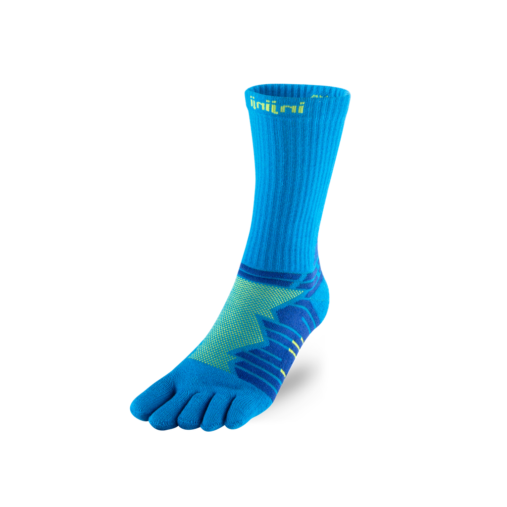 Ultra Run Crew – Blue/Lime
